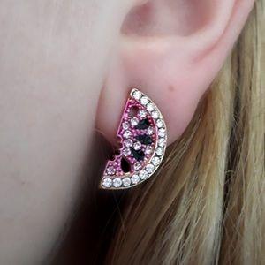 Pink Watermelon Fruit Stud Earrings ear ring